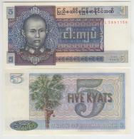 Burma 5 Kyat 1973 Pick 57 UNC - Myanmar