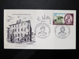 Bicentenaire De Napoleon 1610 // Dedicace Haley  //  Premier Jour FDC   // 1969 - 1960-1969