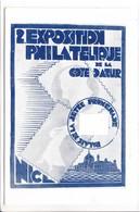 2E EXP DE TIMBRES-POSTE - NICE - 1931 - + VIGNETTE - Publicités