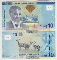 Namibia 10 Dollars 2012 Pick 11a UNC - Namibia