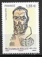 France 2014 N° 4898 Neuf Charles Péguy à La Faciale - France
