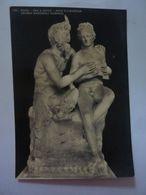 """Cartolina """"ROMA - PAN E DAFRU' - ARTE ELLENISTICA, MUSEO NAZIONALE ROMANO"""" Anni '50 - Musei"""