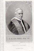 """Canivet, Holly Card N°67, Image Pieuse Dentelle """" S.S. Le Pape Pie IX , Société De St Luc"""" 8 X12 Cm, - Religione & Esoterismo"""