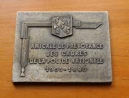 Médaille Amicale De Prévoyance Des Cadres De La Police Nationale 1905-1980 - Polizei