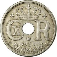 Monnaie, Danemark, Christian X, 25 Öre, 1938, Copenhagen, TTB, Copper-nickel - Danemark