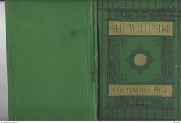 CAMILLE REUVER Album Illustré Pour Timbres-Poste 1877 , In 8 Rel. Toile ( Vide ) , 79 P.  Format 22,8 X 15,5 Cm - Postzegels