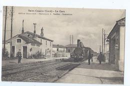 Cpa -   Dpt  -  Gard -  - Saint - Cezaire -   - La Gare    - Animation (  Selection  )  Rare 1910 - Altri Comuni