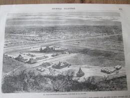 Gravure 1864   BIRMANIE    LA VILLE DE MANDALAY  Vue De La Colline  HILLS VIEW - Myanmar (Burma)