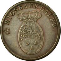Monnaie, Danemark, Frederik VI, Rigsbankskilling, 1818, Copenhagen, TTB, Cuivre - Danemark
