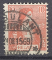 HELVETIA 1907: Mi 98 / YT 116, O AMBULANT - FREE SHIPPING ABOVE 10 EURO - Used Stamps