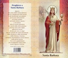 Santino Depliant SANTA BARBARA - PERFETTO M21 - Religione & Esoterismo