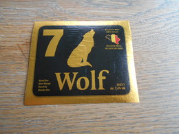 ETIQUETTE BIERE WOLF 7 - Cerveza