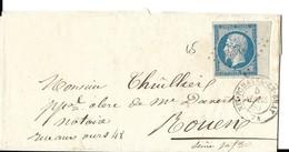 Seine-inferieure 76 PC Sur Paire 14A Avec Bdf+ CàD Type15 De Neufchatel-en-Bray Indice 3 - Postmark Collection (Covers)