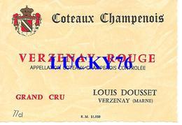 Coteaux Champenois Verzenay Rouge Grand Cru Louis Dousset Marne - Rouges