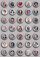 35 X The Rolling Stones Keith Richards Music Fan ART BADGE BUTTON PIN SET 1 (1inch/25mm Diameter) - Music