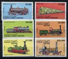 RC 10955 MAURITANIE N° 466 / 471 SERIE TRAINS LOCOMOTIVES EMISE EN 1980 NEUF ** TB - Trains