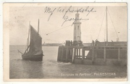 Entrance To Harbour, Folkestone - 1904 - Folkestone
