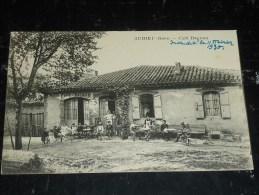 """AUBIET - CAFE DAGNAN Gros Plan - NOTIFICATION ECRITE; """" Incendié Le 11 Février 1930 """" - 32 GERS (O) - Altri Comuni"""