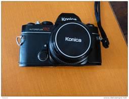 KONICA -FS 1- Appareil Photo Argentique ; Avec Objectif Konica Hexanon AR 28 Mm. F 3,50 - Appareils Photo