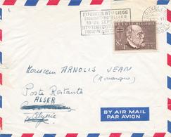 184/28 - Lettre PAR AVION TP 937 (Bord De Feuille) Antituberculeux BRUXELLES 1954 Vers ALGER - RARE Taxation Algérie - België