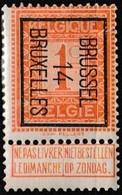 Timbre Préoblitéré Neuf** - Surimpression Typographique Sur Chiffre PRE45 = BRUSSEL 14 BRUXELLES - Belgique 1912 - Precancels