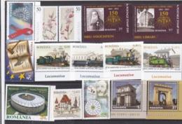 ROUMANIE ROMANIA :  15 Timbres Neuf XX Année 2011 Cote 44 € - 1948-.... Repúblicas