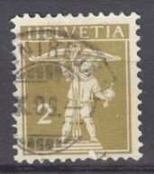 HELVETIA 1909: Mi 111 I / YT 128, O - FREE SHIPPING ABOVE 10 EURO - Used Stamps