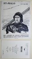 1961 Menu Saint Malo XVII Congrès Amicale Internationale Des Capitaines Cap-Horniers Dessin Signature Etienne Blandin - Menú