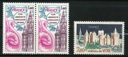 FRANCE   Série Touristique     N° Y&T 1948 Et 1949  ** - France