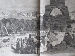 Gravure 1864 TURQUIE Cimetiere  ERZEROUM  MONTAGNARDS Emigrants Du CAUCASE Armenie ORIENTALE - Vieux Papiers
