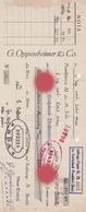 FRANKFURT 1938 G. OPPENHEIMER & Co - Lettres De Change