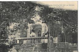 Carte Animée 1912 /  74 BENITE-FONTAINE DE LA ROCHE / La Source / Tampon Ambulant Aix Les Bains Annemasse - Autres Communes