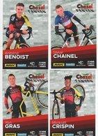CYCLISME TOUR  DE  FRANCE EQUIPE CHAZAL CANYON 2018/2019 CHAINEL BENOIST  CRISPIN GRAS - Ciclismo