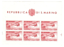 San Marino 1961 Foglietto Elicottero Nuovo ** Sassone 22   Cod.FRA.612 - San Marino