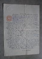 Houdeng-Aimeries 1917. Acte. - Manuscrits