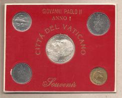 Vaticano - Giovanni Paolo II Anno I - 4 Monete FdC + Medaglia - Vaticano