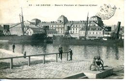 N°68469 -cpa Le Havre -bassin Vauban Et Caserne Kléber- - Le Havre
