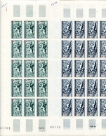 2 Feuilles 25 Timbres Croix Rouge - Bassin De Diane Versailles- Année 1952 YetT 937-938 Cote 300 Euros - Feuilles Complètes