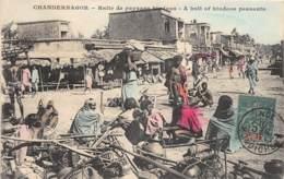Inde Française - Topo / 4 - Chandernagor - Halte De Paysans Hindous - Défaut - Se Décolle - India
