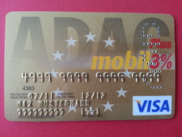ADAC Mobil Plus VISA - BANK CARD - GERMANY MUSTER - VOID SAMPLE TEST DEMO TRIAL (SACROC) - Cartes De Crédit (expiration Min. 10 Ans)