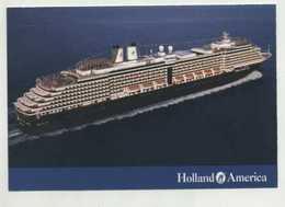 """ OOSTERDAM "" - Holland America Cruises  (2 Scans ) - Dampfer"