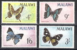 Malawi 1966 Butterflies MNH CV £6.55 - Papillons