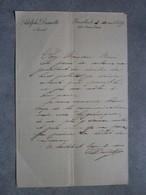 Bruxelles 1899. Avocat Adolphe Desmette. - Manuscrits
