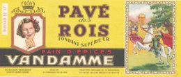 BU 1593 -/  BUVARD    PAIN D'EPICES VANDAMME  PAVE DES ROIS CHOISY LE ROI (SEINE) - Gingerbread