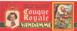 BU 1594 -/  BUVARD    PAIN D'EPICES VANDAMME  COUQUE ROYALE  CHOISY LE ROI (SEINE) - Pain D'épices