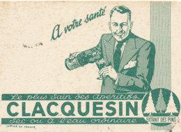 BU 1596 -/  BUVARD  APERITIFS  CLACQUESIN - Liqueur & Bière
