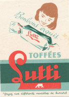 BU 1597 -/  BUVARD   BONBONS TOFFEES LUTTI - Cake & Candy