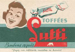 BU 1598 -/  BUVARD   BONBONS TOFFEES LUTTI - Sucreries & Gâteaux