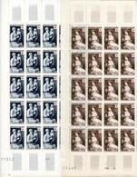 2 Feuilles 25 Timbres Croix Rouge - Vigée-LeBrun Et Louis Le Nain - Année 1953 YetT 966-967 Cote 587,50 Euros - Feuilles Complètes