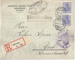 Allemagne Lettre Affranchie Censurée - Lettres & Documents